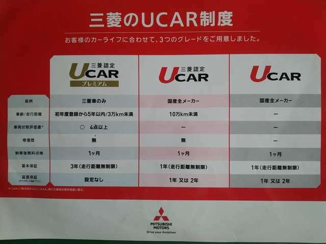三菱認定UCAR保証制度1年間走行距離無制限
