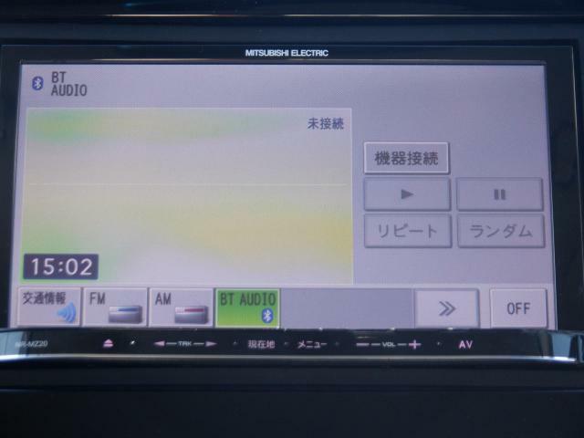 CD機能はなく、Bluetoothオーディオで音楽を聴きます。