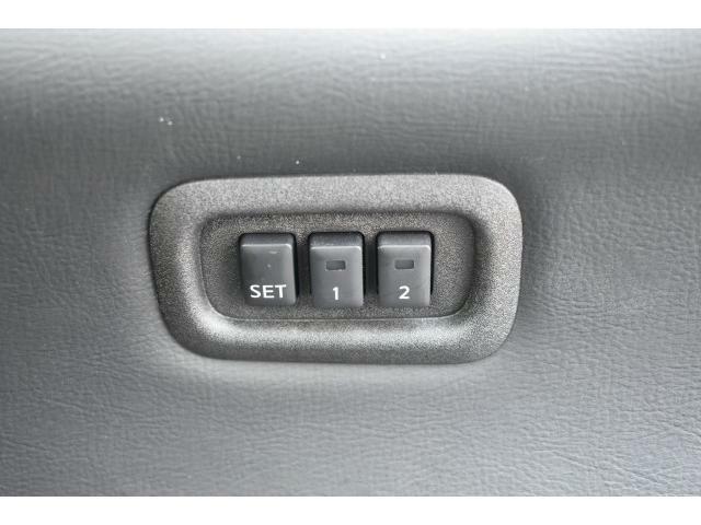 メモリー機能搭載でシートを動かした際にボタン一つで元の位置に♪