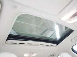 天井には電動ガラスサンルーフを装備 フレッシュエアーを取り入れるにはもってこいな装備です