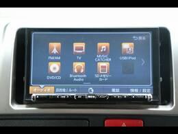 クラリオンナビを装備。TV、ブルートゥース接続、DVD再生可能、音楽の録音も可能です。