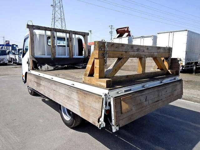 左右アオリ開閉補助装置 長尺物積載用木製架台