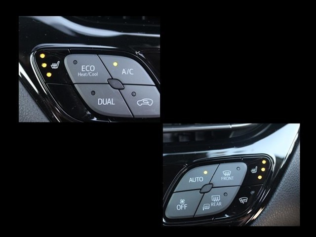 前席のみシートヒーター付!冬場は暖房と併用してあげると、燃費改善できます!