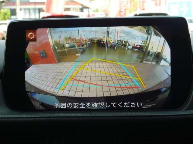 バックカメラ、コーナーセンサー搭載