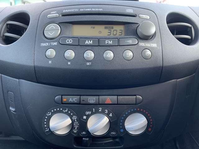 オーディオは特にこれと言って特筆するものはありませんがCDデッキがついています。 CD聞けます! なんと!CDが聞けます! 運転中にCDを聞くことができます! 音楽を聴きながら運転できる優れモノです!
