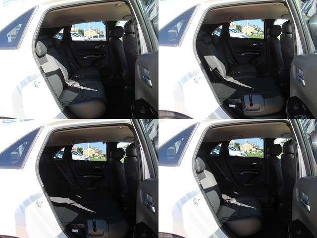 リアシートです!厚みのあるシートとゆったりした足元で、後席の方も窮屈な思いをせずに快適に過ごせます!