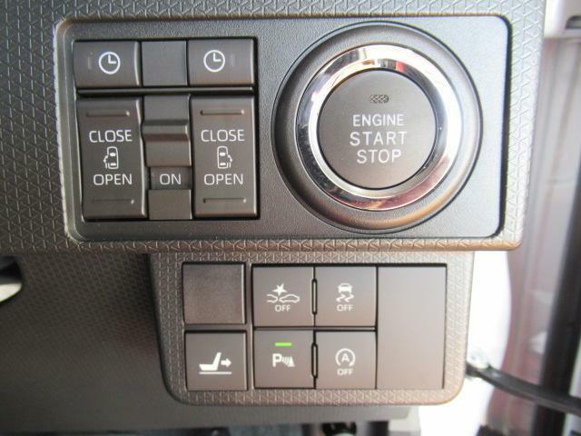 プッシュボタンスタート付だから、ラクラクエンジン始動!