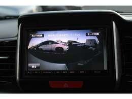 バックの苦手な方や運転に自信のない方でも安心して車庫入れが出来るリバース連動リアカメラが装着されています。安心ですね。
