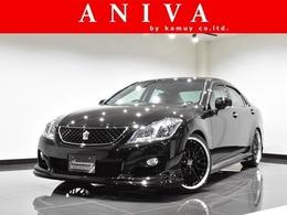トヨタ クラウンアスリート 2.5 ナビパッケージ 黒革 車高調 20AW フルエアロ 禁煙1オナ