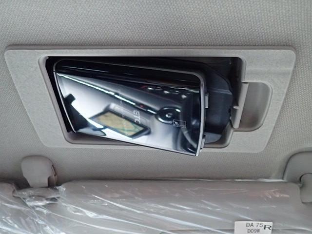 運転席のサンバイザーをめくるとETCがスッキリと収納されております。