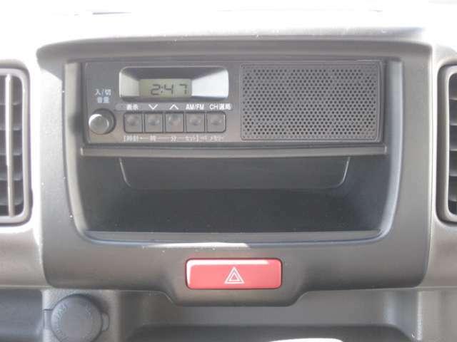スピーカー内蔵ラジオプレーヤー付きです!AM/FMどちらも聴けますよ♪