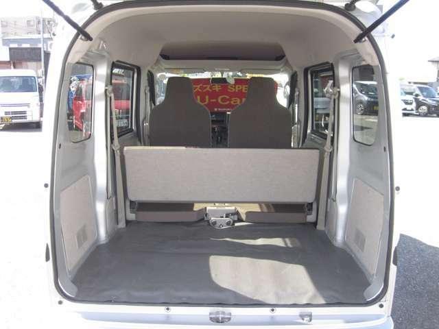 ラゲッジスペースの画像です!開口部も広くて荷物も載せやすいですよ!