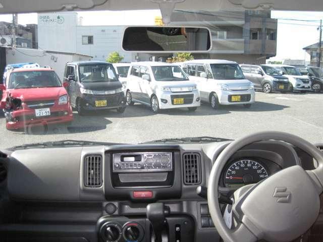 視界が広く前方が見やすいので運転もしやすいです!!交差点等での右折時・左折時に歩行者も見やすいです!!