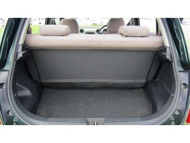 トランク内、十分なスペースがあり様々な物を載せることが可能です♪