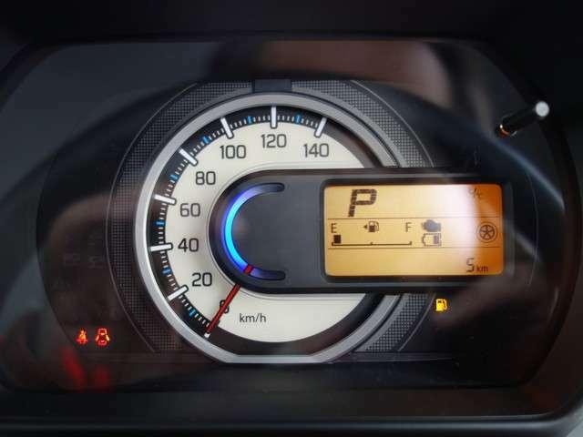 シンプルですが非常に見やすいスピードメーターです。