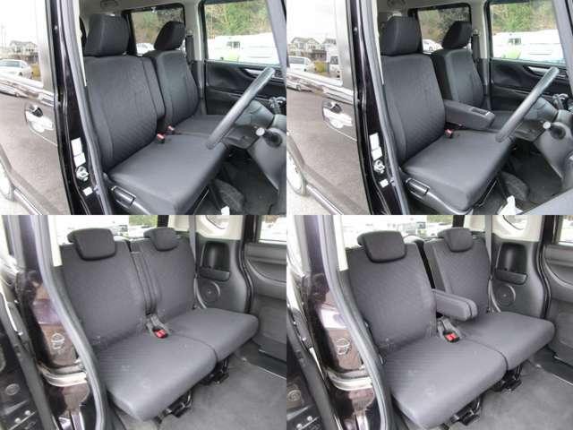 フロント&リヤシート フロントセンターアームレスト付で、リヤシートにも左右分割センターアームレストが付いています。 シート類も問題無し