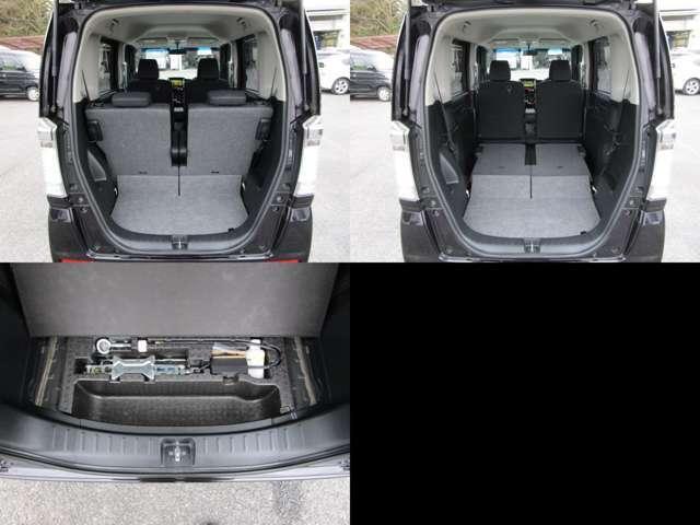 ラゲッジルーム リヤシートを左右可倒すれば、フラットで大きなスペースを確保出来ます。