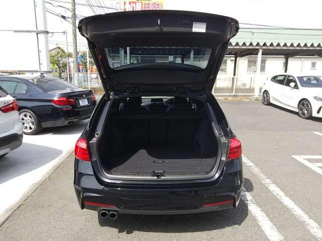 トランクも大容量なのでアウトドアやショッピングに適しています。