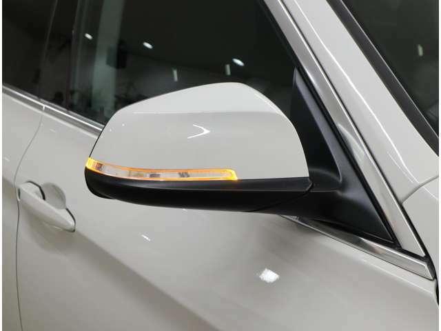 後方からの視認性にも優れるLED式ウィンカーを内蔵したドアミラー。