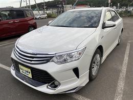 トヨタ カムリハイブリッド 2.5 1年保証付販売車/走行距離無制限/ナビ/TV付