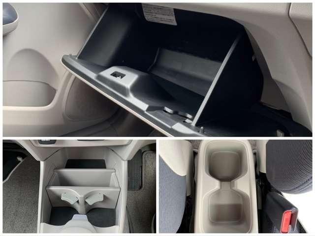 グローブボックスはもちろん、たくさんの収納スペースがございます^^車検証以外にも常備品や細かいものなどを収納できます!!