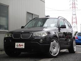BMW X3 3.0si 4WD スポーツPK黒革SR20AW HDDナビBカメラ