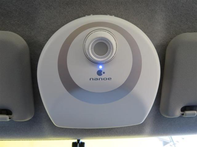 ナノイー付きLEDランプです。閉め切ったクルマの室内は空気がこもりがち・・・。空気のクリーンは重要です。ナノイーで室内をクリーンに保てそうですね。