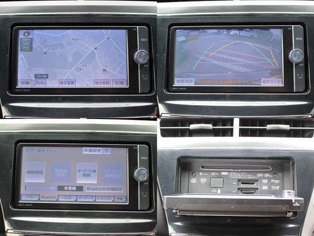純正SDナビ搭載ですので道に迷うことなく楽しくドライブ!Bluetooth接続やDVD再生もOK☆SDカードを入れれば音楽録音も可能です☆