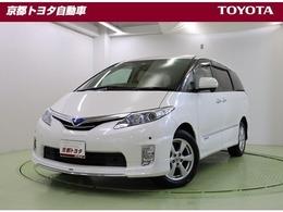 トヨタ エスティマハイブリッド 2.4 G 4WD モデリスタフロントエアロ HDDナビ ETC