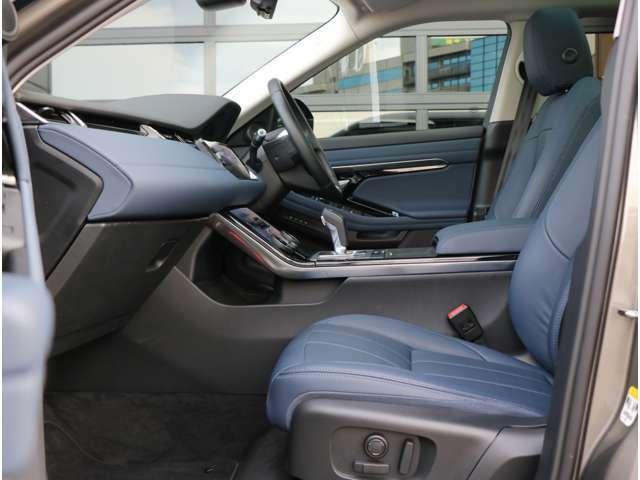 上品な内装は通気性の良いメッシュの皮シート。14ウェイ電動シートで最適なドライビングポジションが可能。シートヒーター(フロントシート)も装備しております。