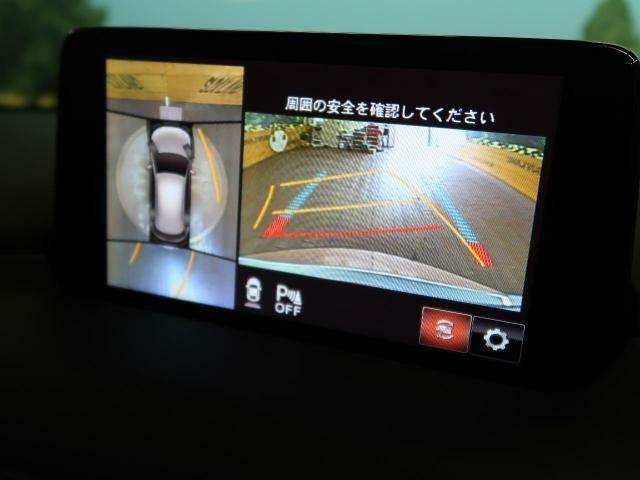【全周囲カメラ】クルマを上空から見下ろしているかのように、直感的に周囲の状況を把握できます☆狭い場所での駐車でも周囲が映像で確認できます!