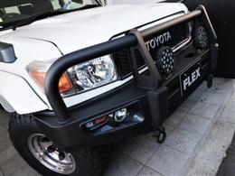 社外バンパー+LEDフォグランプ。