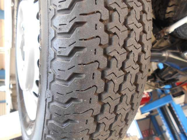 タイヤの溝もバッチリあります。