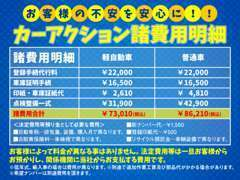 当社の諸費用(課税分)の掲載表です!!安心してお車をご購入頂けるよう努めています♪低年式車や輸入車もお気軽にご相談下さい!