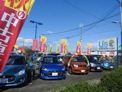 コンパクトカーも多数展示いたしております。ボディーカラーも多彩なスズキ車です!