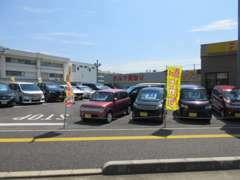 軽、コンパクトカー、ミニバン、SUV、HVまで幅広く展示中!