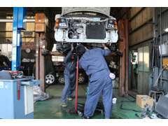 自社、指定工場完備。納車点検 アフターメンテナンスもお任せください。