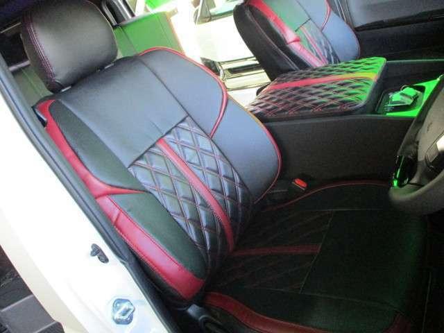 フロント3Dバケットシートカバー!