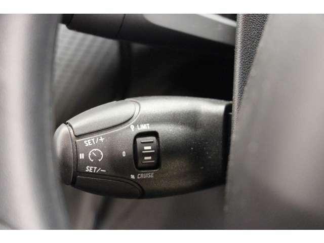 高速走行時に特に便利な、スピードリミッター付きクルーズコントロールを装備しています。