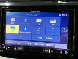 フルセグ内蔵のナビ搭載。DVD再生、Bluetoothも対応可能です。