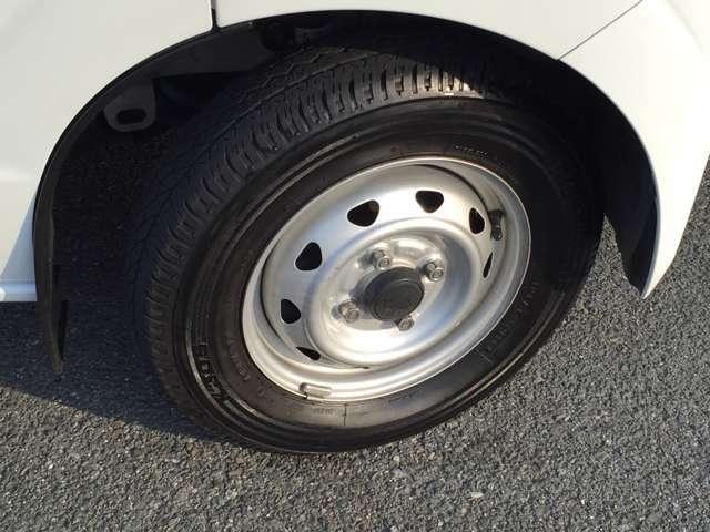 「タイヤの溝もまだまだこれからです♪