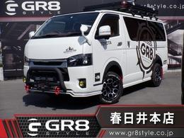 トヨタ ハイエースバン 3.0 スーパーGL ダークプライム ロングボディ ディーゼルターボ 4WD GR8デモカー 11型ナビTV キャンピングkit