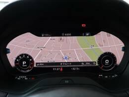 ●バーチャルコックピット(オプション:¥50,000):次世代のメーターは、ナビやオーディオとも連動しております!ドライバーの運転サポートとしては、かなり便利な機能ですね♪