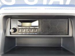 AM/FMラジオを装着しています。