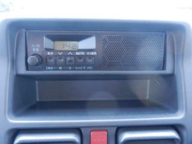 ラジオ装備車です。ドライブをしながらラジオをお聞きになる事が出来ます。各種、オーディオ取り扱いしております。