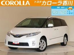 トヨタ エスティマハイブリッド 2.4 X 4WD 純正HDDナビ&フルセグTV・後席モニター