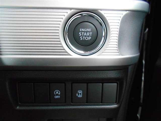 【プッシュスタート】 キーは鞄やポケットに入れたまま、ブレーキを踏んで、スイッチを押すだけでエンジンスタート! カギを探す煩わしさから解放されますね♪