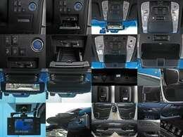 ●リヤセンターコンソール(集中コントロールタッチパネル・格納式大型テーブル<アルミ削り出し>内蔵・スイッチパネル・USB充電端子2個・アームレスト<左右カップホルダー>)●専用フロアマット