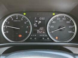 走行距離や燃費がわかるインフォメーションディスプレイ★ガソリンの残量やシートベルトの締め忘れも警告してくれるため安心です^^