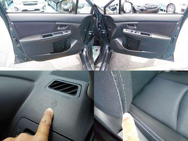 内装カラーもブラックです!!内装で気になる箇所はダッシュボード運転席右の軽微なのり跡と運転席背面淵の擦れです!!ご遠方にお住まい等で現車確認出来ない方は要チェックです!!!
